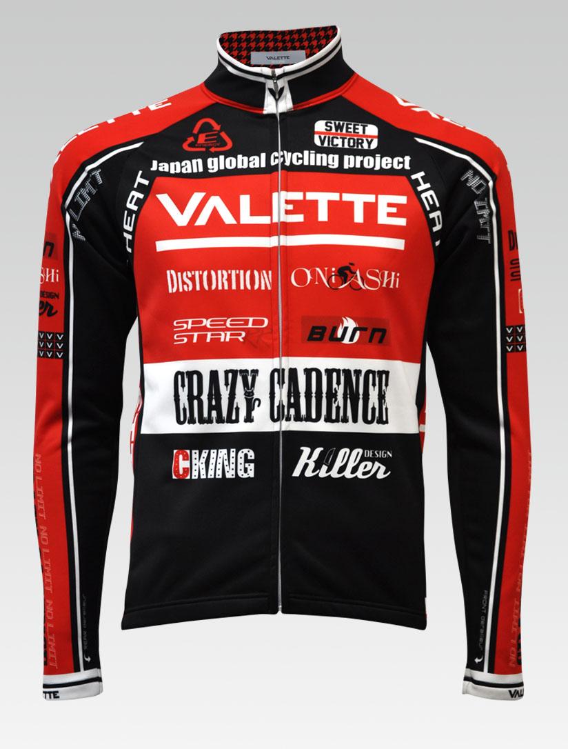 【VALETTE/バレット】SPEED (スピード)RED(レッド) ウインタージャケット VALETTE A-LINE【サイクルジャージ/サイクルウェア/自転車/レプリカ/サイクル/ロードバイク/ウェア/ユニフォーム/ランニングウェア/フィットネスウェア】