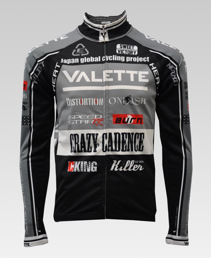 【VALETTE/バレット】SPEED (スピード)GRAY(グレー) ウインタージャケット VALETTE A-LINE【サイクルジャージ/サイクルウェア/自転車/レプリカ/サイクル/ロードバイク/ウェア/ユニフォーム/ランニングウェア/フィットネスウェア】