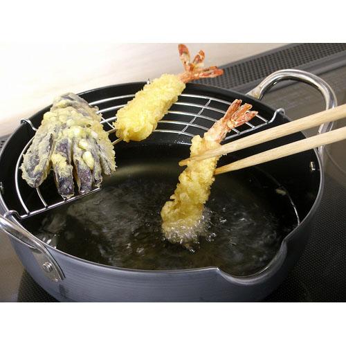 日本製極JAPAN 天ぷら鍋 S 20cm揚げアミ付リバーライト送料無料SGLqzUMVp