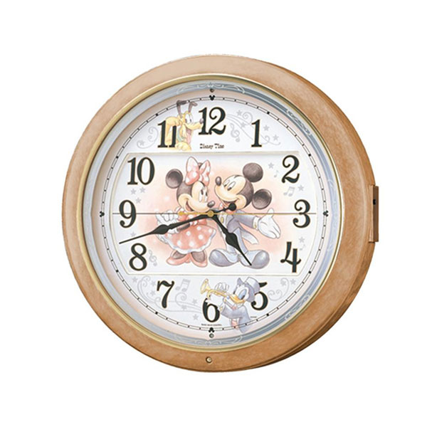 セイコークロック 電波クロック キャラクタークロック 掛時計 ディズニー ミッキー&フレンズ FW561A