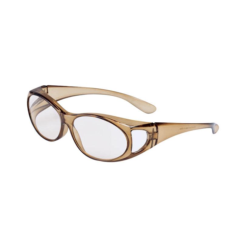 眼鏡の上からかけられる拡大鏡 業界No.1 オーバーグラスルーペ 倉 カーキ1.6倍 ブルーシールド