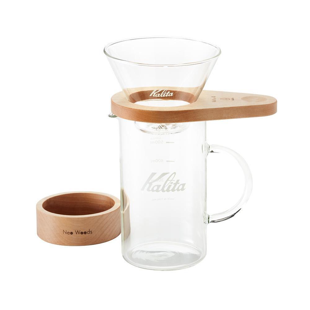【送料無料】Kalita(カリタ) Oak Village&Kalita Neo Woods WDG-185 しずく型セット 44316