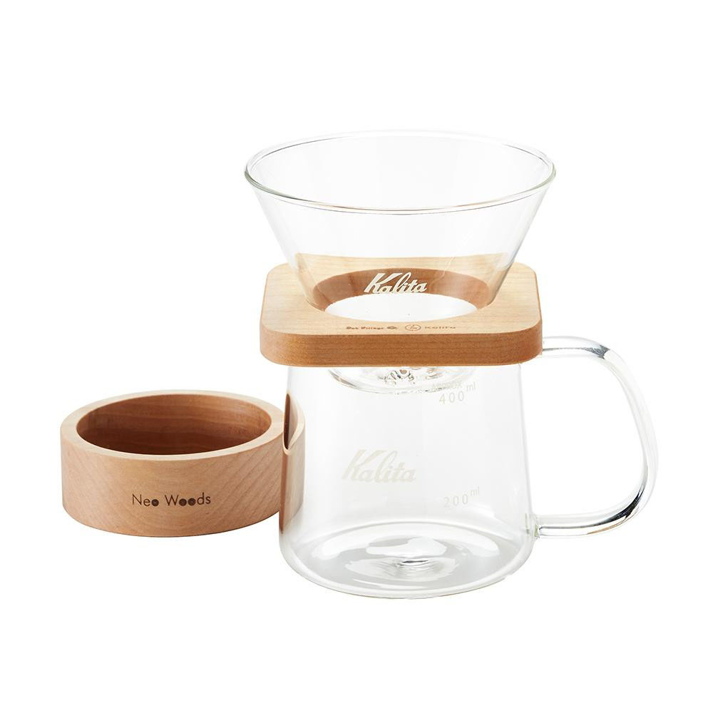 【送料無料】Kalita(カリタ) Oak Village&Kalita Neo Woods WDG-185 角型セット 44315