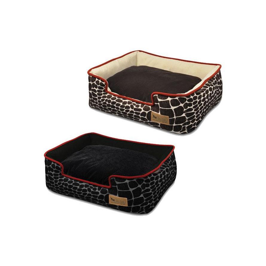 ラグジュアリーベッド「P.L.A.Y」 ペット用ベッド ラウンジベッド(BOX型) Mサイズ カラハリ ブラウン