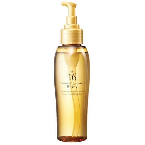 ベタつかない驚きのウルツヤ髪へ 購入 ハホニコ 16油シャイニー 完売 120ml ジュウロクユシャイニー ヒーティング対応オイル