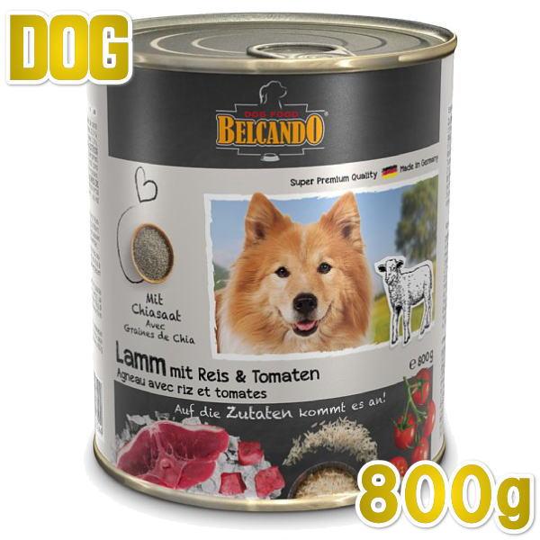 最短賞味2022.8・ベルカンド ラム 米とトマト 800g缶 一般食 スーパープレミアム モイストフード ドイツ原産ドッグ BELCANDO 正規品 bc13113