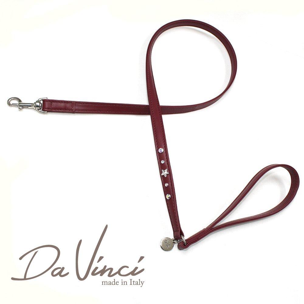 Da Vinci /Caterina:ボルドー/DV4.4BX 【犬用リード・全長:約110cm/幅:1.5cm/お洒落な/イタリア製/かわいい/ダ・ヴィンチ】 dv92444