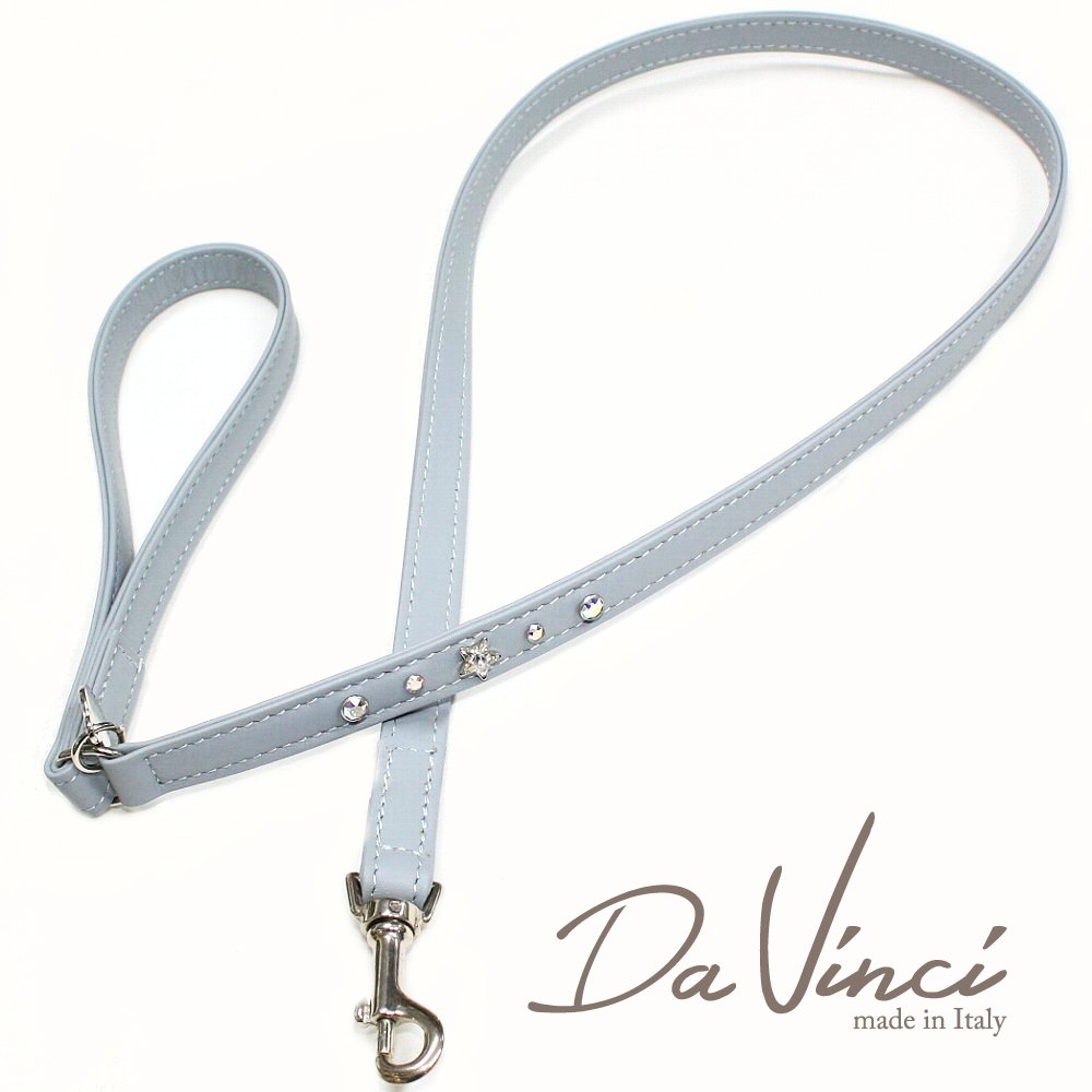 Da Vinci Caterina:グレー DV4.4G 犬用リード・全長:約110cm 幅:1.5cm お洒落な イタリア製 かわいい ダ・ヴィンチ dv92451