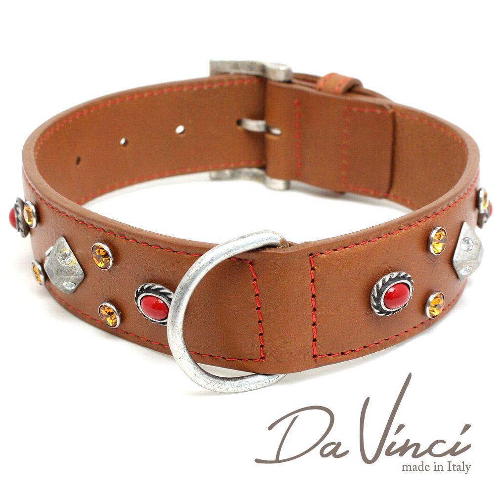 Da Vinci カラー Maddalena:ナチュラル DV17.2.55N 大型犬用首輪・首周り実寸:約38~48cm お洒落な イタリア製 かわいい ダ・ヴィンチ dv94790
