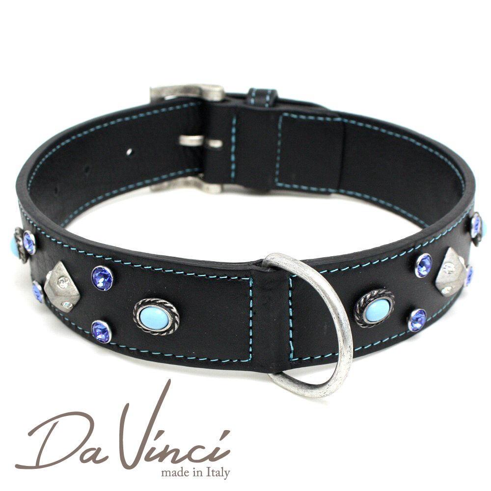 Da Vinci カラー Maddalena:黒 DV17.2.60B 大型犬用首輪・首周り実寸:約42~52cm お洒落な イタリア製 かわいい ダ・ヴィンチ dv94806