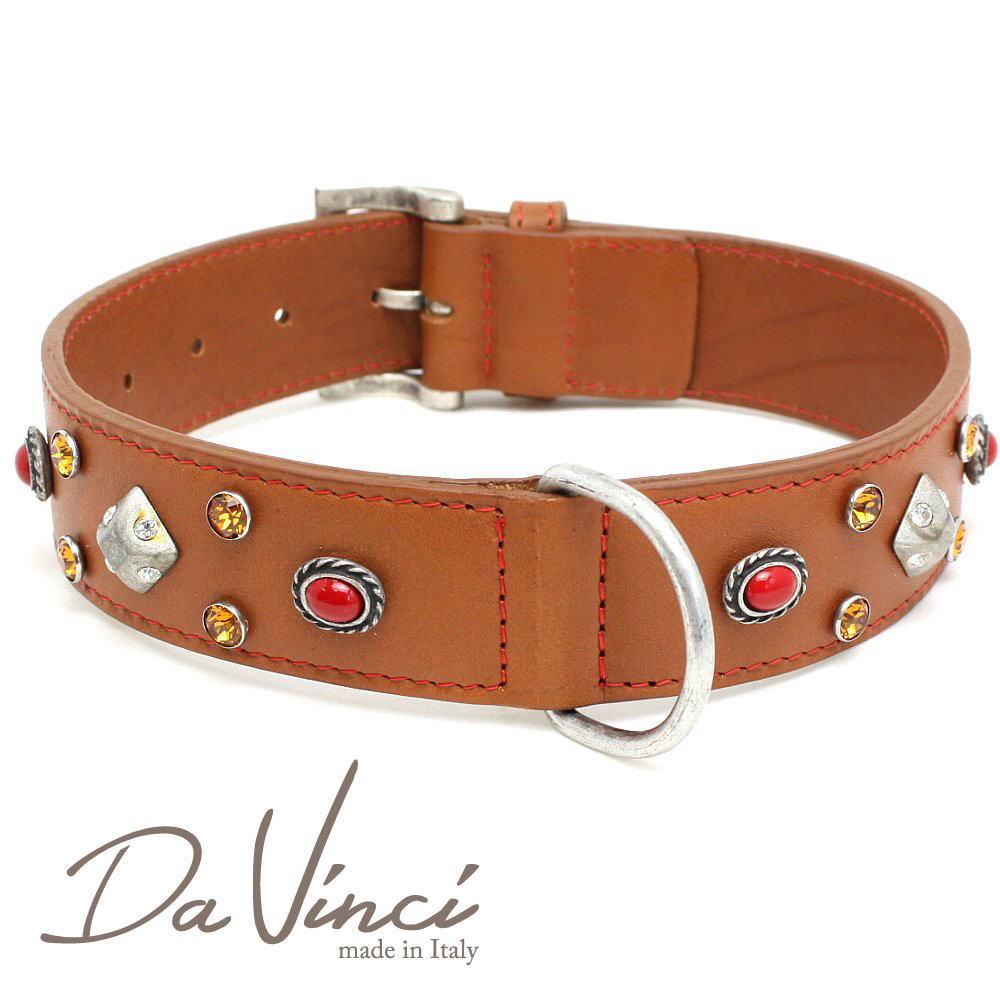 Da Vinci カラー Maddalena:ナチュラル DV17.2.60N 大型犬用首輪・首周り実寸:約42~52cm お洒落な イタリア製 かわいい ダ・ヴィンチ dv94820