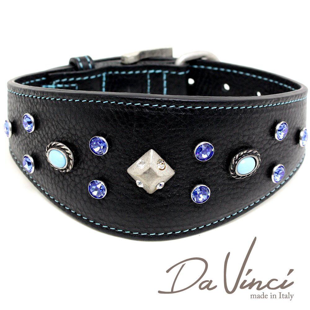 Da Vinci カラー Maddalena:黒 DV17.3.45B 【中型犬用首輪・首周り実寸:約33~40cm お洒落な イタリア製 かわいい ダ・ヴィンチ】 dv97111