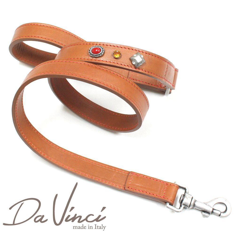 Da Vinci Maddalena:ナチュラル DV17.4N 犬用リード・全長:約110cm 幅:2.5cm お洒落な イタリア製 かわいい ダ・ヴィンチ dv97166
