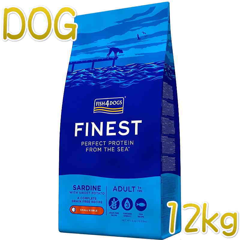 NEW 最短賞味2022.1.11・フィッシュ4ドッグ サーディン 12kg 穀物不使用 ドッグフードFISH4DOGS正規品f4d07900