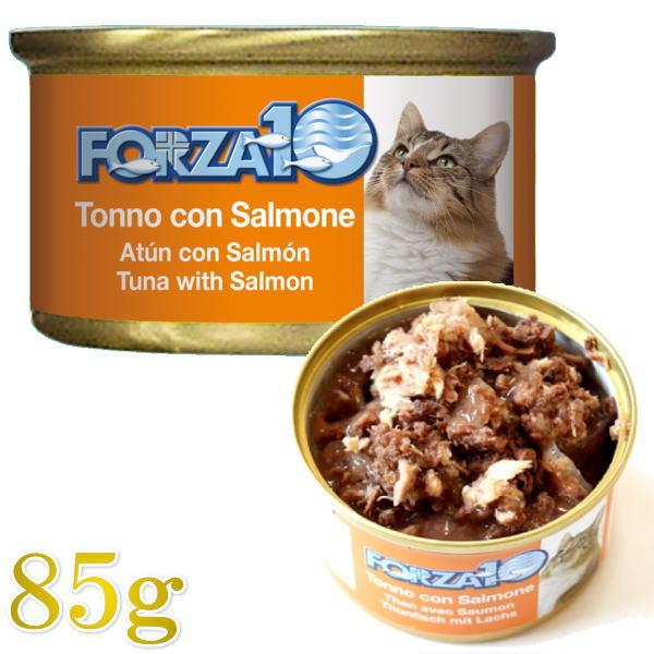 フォルツァディエチ FORZA10 チープ 最短賞味2023.5 フォルツァ10 猫 メンテナンス 返品交換不可 サーモン 成猫用 85g缶 マグロ 一般食FORZA10正規品fo05654