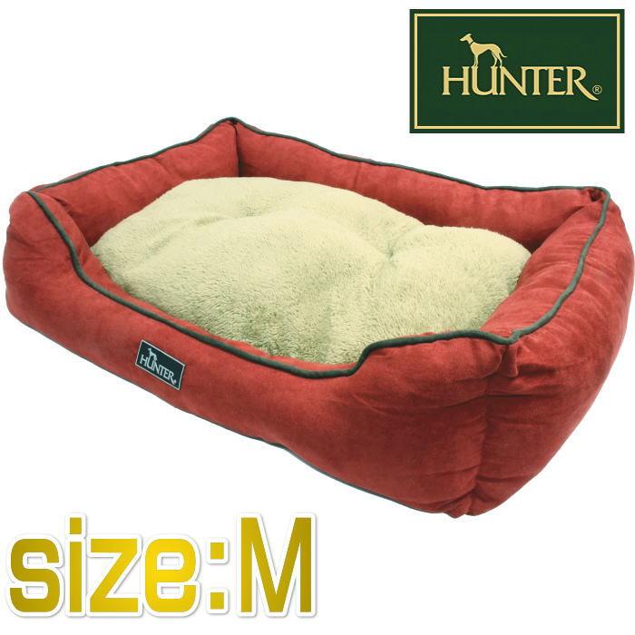 HUNTER ハンター ドッグソファ コテージ レッド Mサイズ 【中型犬・大型猫用ベッド・65×50×17cm】 hnt61093