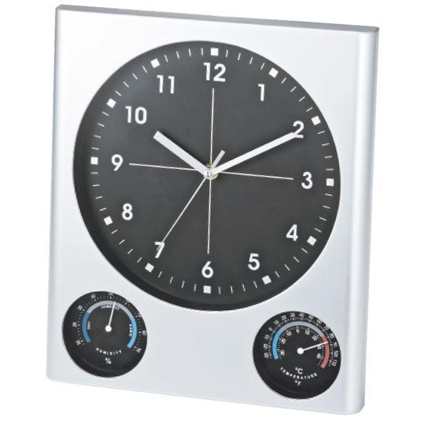 【まとめ買い10セット】BIG掛け時計(温湿度計付)(記念品 イベント パーティ プレゼント 景品 粗品 賞品 ノベルティ ギフト 新生活応援 スーパーセール)