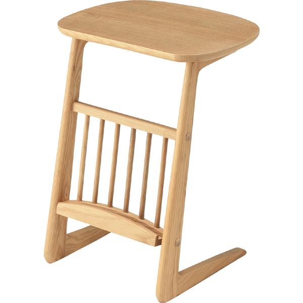 サイドテーブル ナチュラル幅44cm(メーカー直送 天然木 木製 コーヒーテーブル ナイトテーブル リビング インテリア 家具 ナチュラル シンプル 北欧 オシャレ 人気 AZUMAYA 東谷 新生活応援)(キャッシュレス5%還元)