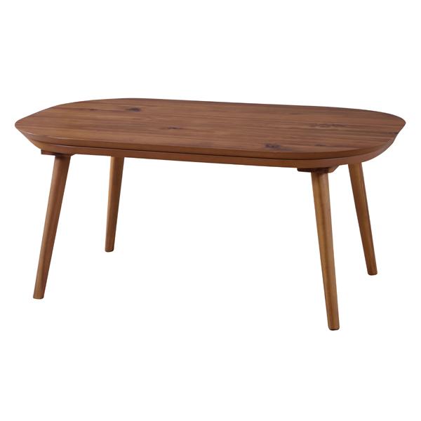 こたつ アカシアこたつテーブル 角丸 天然木 W90xD60cm(kt-106)こたつ単品 コタツ 炬燵 ダイニングテーブル 一人暮らし 一人用(キャッシュレス5%還元セール)
