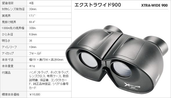 双眼鏡 ブッシュネル エクストラワイド900(アウトドア用品 アウトドアグッズ キャンプ用品 車中泊 便利グッズ 精密機器 正規品 新生活応援)(キャッシュレス5%還元)