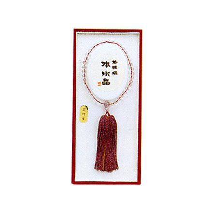 数珠 念珠 女性用天然水晶(紫メノウ仕立(スーパーセール)