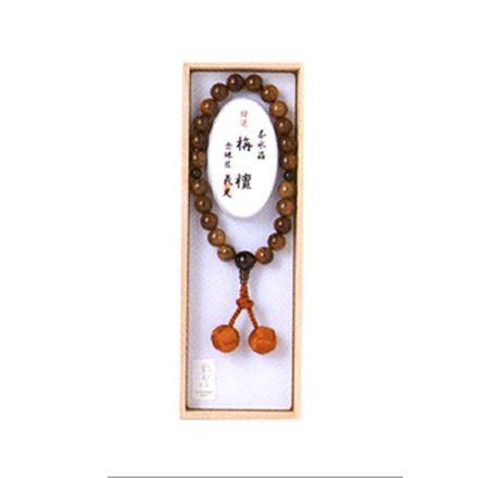 数珠 念珠 男性用栴丹(茶水晶仕立)12mm玉