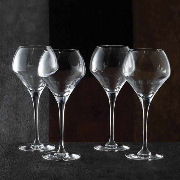 ギフト シェフ&ソムリエ オープンナップ ラウンド ワイン 4客セット D1428D(フランス製 洋ガラス食器)(内祝い 結婚内祝い 出産内祝い 新築祝い 就職祝い 結婚祝い 引き出物 お返し)(キャッシュレス5%還元)