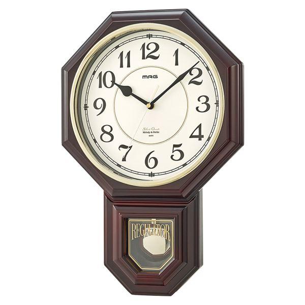 マグ メロディ振り子時計 西洋館 W-670BR(掛時計)(内祝い 結婚内祝い 出産内祝い 新築祝い 就職祝い 結婚祝い 引き出物 お返し 新生活応援)(キャッシュレス5%還元)