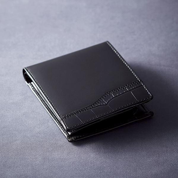 ニノリバ ベラ付二つ折れ財布/ブラック NR-101(ブランド財布)(内祝い 結婚内祝い 出産内祝い 新築祝い 就職祝い 結婚祝い お返し)(キャッシュレス5%還元)
