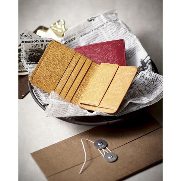 良品工房 日本製牛革手作り2つ折れ財布/キャメル B1110-204CA(日本製 財布)(内祝い 結婚内祝い 出産内祝い 新築祝い 就職祝い 結婚祝い 引き出物 お返し)(キャッシュレス5%還元)