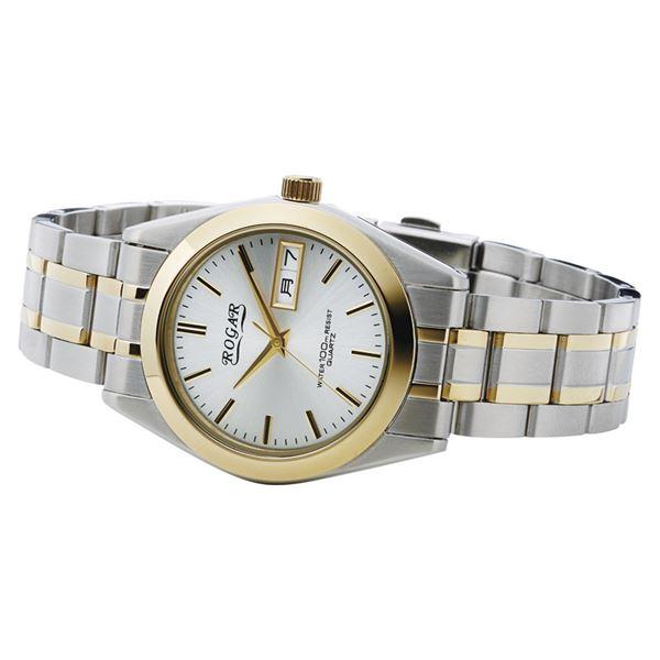 ロガール メンズウォッチ コンビ RO-064MC-B(日本製 腕時計(メンズ))(内祝い 結婚内祝い 出産内祝い 新築祝い 就職祝い 敬老の日ギフト 結婚祝い お返し スーパーセール)