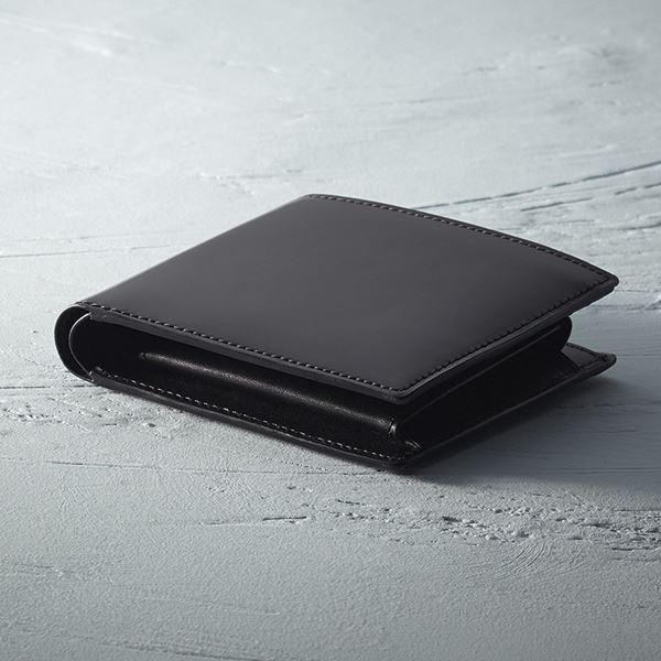 コードバン二つ折財布/ブラック S-NOM153102BK(日本製 バッグ)(内祝い 結婚内祝い 出産内祝い 新築祝い 就職祝い 結婚祝い 引き出物 お返し)(キャッシュレス5%還元)