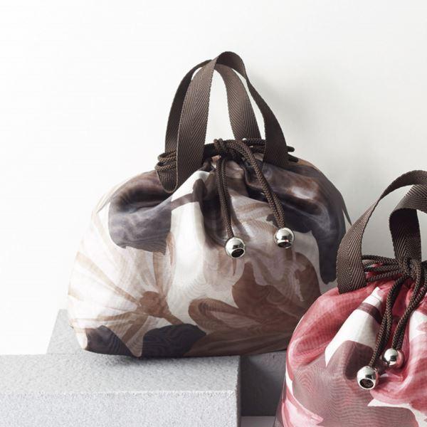 【まとめ買い10セット】日本製オーガンジーバッグイン巾着/ブラウン CR-2583BR(日本製 収納用品)(内祝い 結婚内祝い 出産内祝い 新築祝い 就職祝い 結婚祝い 引き出物 お返し)(キャッシュレス5%還元)
