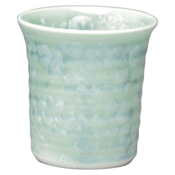 【まとめ買い10セット】京焼 花結晶 陶?窯焼酎杯/緑 トウア830(日本製 和食器)(内祝い 結婚内祝い 出産内祝い 新築祝い 就職祝い 結婚祝い 引き出物 お返し)(キャッシュレス5%還元)