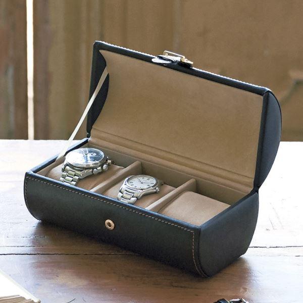 【まとめ買い10セット】ウォッチケース(3本用) 240-444(メンズ 腕時計 収納ボックス)(内祝い 結婚内祝い 出産内祝い 新築祝い 就職祝い 結婚祝い お返し)(キャッシュレス5%還元)