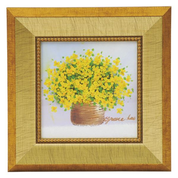 手描き油絵 黄色のブーケ N1111-423(額 絵画 掛軸)(内祝い 結婚内祝い 出産内祝い 新築祝い 就職祝い 結婚祝い 引き出物 香典返し お返し)(キャッシュレス5%還元)