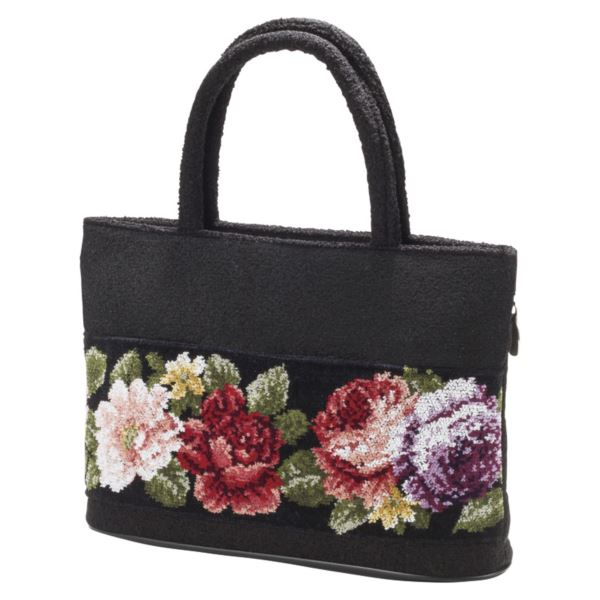 日本製シェニール織バラ柄手提げバッグ ND-8005(日本製 バッグ)(内祝い 結婚内祝い 出産内祝い 新築祝い 就職祝い 結婚祝い 引き出物 お返し)(キャッシュレス5%還元)