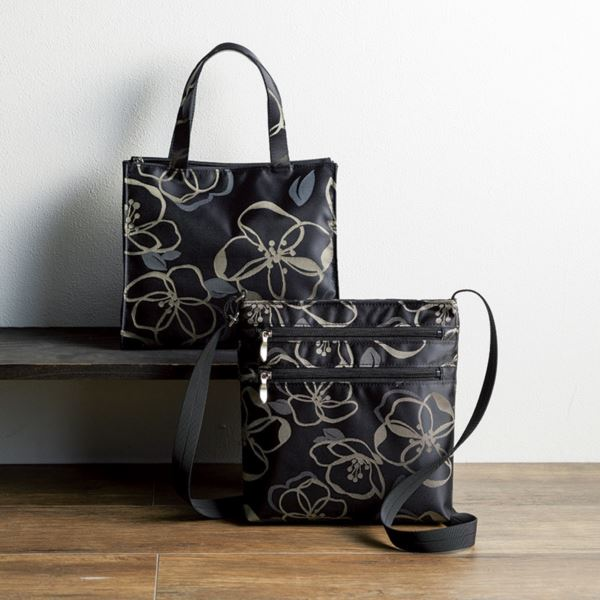 日本製ジャカードバッグセット/ブラック JB4503/5500set(日本製 バッグ)(内祝い 結婚内祝い 出産内祝い 新築祝い 就職祝い 結婚祝い 引き出物 お返し)(キャッシュレス5%還元)