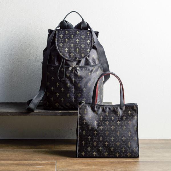 日本製ジャカードバッグセット/ブラック RLU-10000/5001set(日本製 バッグ)(内祝い 結婚内祝い 出産内祝い 新築祝い 就職祝い 結婚祝い 引き出物 お返し)(キャッシュレス5%還元)