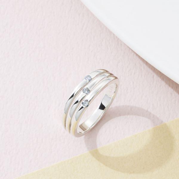 ウルティマ シルバーダイヤモンドファッションリング/9号 CHR1946DIA(日本製 指輪 アクセサリー)(内祝い 結婚内祝い 出産内祝い 新築祝い 就職祝い 結婚祝い 引き出物 お返し)(キャッシュレス5%還元)