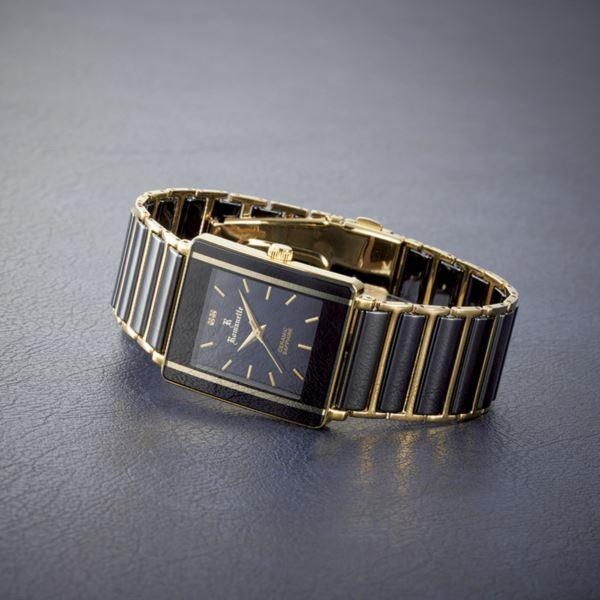 【まとめ買い10セット】ロマネッティ セラミックメンズウォッチ RE-3529M-01(日本製 腕時計(メンズ))(内祝い 結婚内祝い 出産内祝い 新築祝い 就職祝い 結婚祝い お返し)