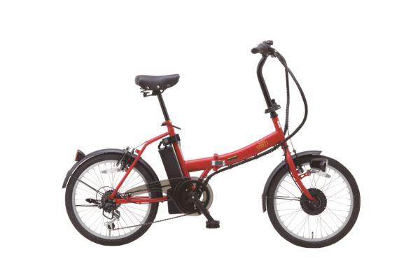 SUISUI Street 20インチ電動アシスト折り畳み自転車 6段変速 マットレッド 20インチ アシスト機能 折畳みフレーム 折畳みハンドル 外装6段変速 LEDライト サークルキー 耐摩耗タイヤ