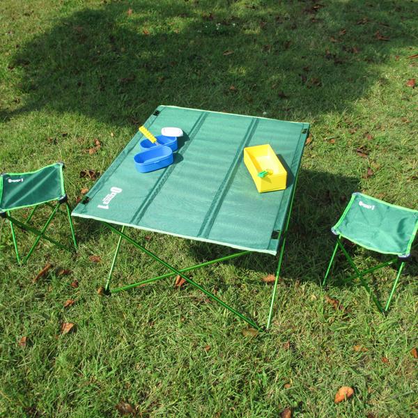 メーカー直送 ZERO-ONE FIELDアルミコンパクトセット(チェア&テーブル)グリーン(アウトドア キャンプ ピクニック 椅子 イスランチ mimugo)(同梱 代引き 包装不可)(キャッシュレス5%還元)