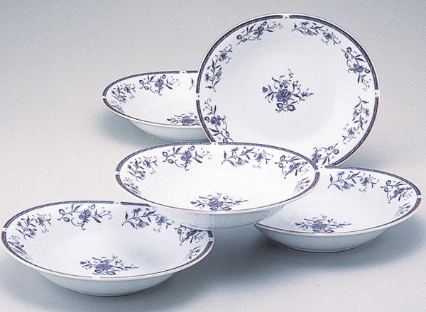 NARUMI(ナルミ)ペレーネブルー カレー&パスタ皿セット(10個セット)(内祝い 結婚祝い 出産内祝い 新築祝い 結婚祝い 引き出物 お返し)