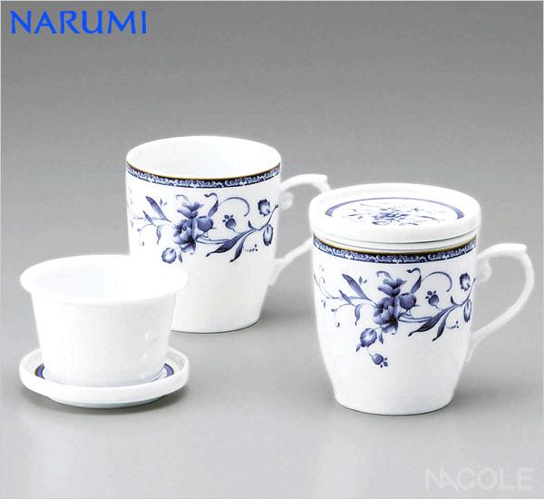 NARUMI(ナルミ)ペレーネブルー ペア茶こし付マグ(10個セット)(マグカップ)(内祝い 結婚祝い 父の日ギフト 入学祝い 出産内祝い 新築祝い 結婚祝い 父の日ギフト 入学祝い 引き出物 お返し)
