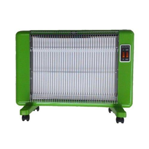 サンラメラ 600W型 Yグリーン 遠赤外線輻射式セラミックヒーター 輻射式ですので人体や床、壁を直接あたため室温を均一に暖房