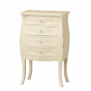 【メーカー直送の為代引き不可】アンティーク調家具 コモ チェスト4D ホワイト 92171