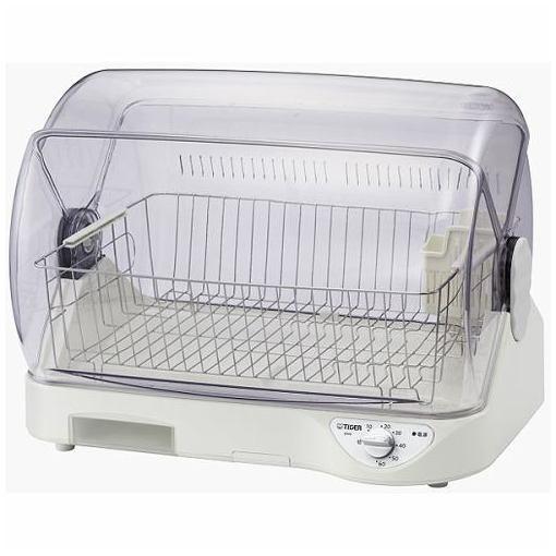 約100度の高温熱風で清潔乾燥 省スペース コンパクト設計 TIGER タイガー 食器乾燥機サラピッカ温風式 高温約100℃ コンパクト ホワイト 国内正規品 お手入れ簡単 6人用 DHG-T400W 誕生日プレゼント