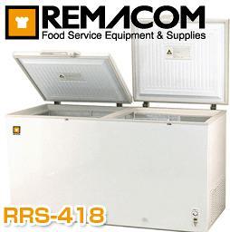 【メーカー直送の為代引き不可】■送料無料■レマコム 冷凍ストッカー RRS-418 庫内容量たっぷりの418リットル 開閉もらくらく2枚扉 RRS-418CNF