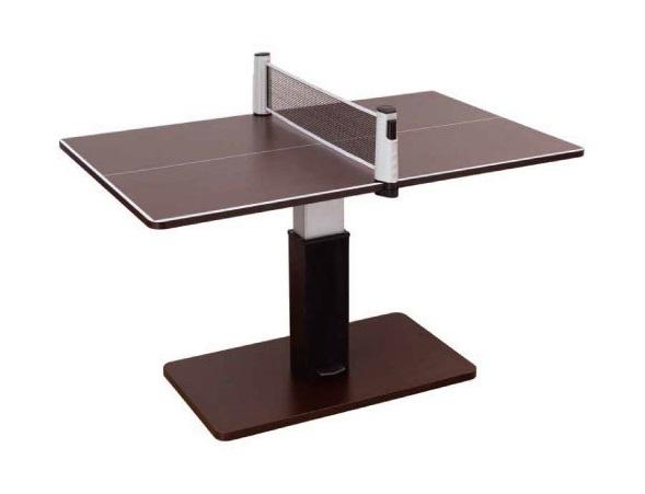 昇降式テーブル兼卓球台ブラウンSHT-1 ■代金引換不可■